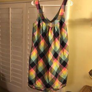 Marc Jacobs Rainbow Plaid Dress